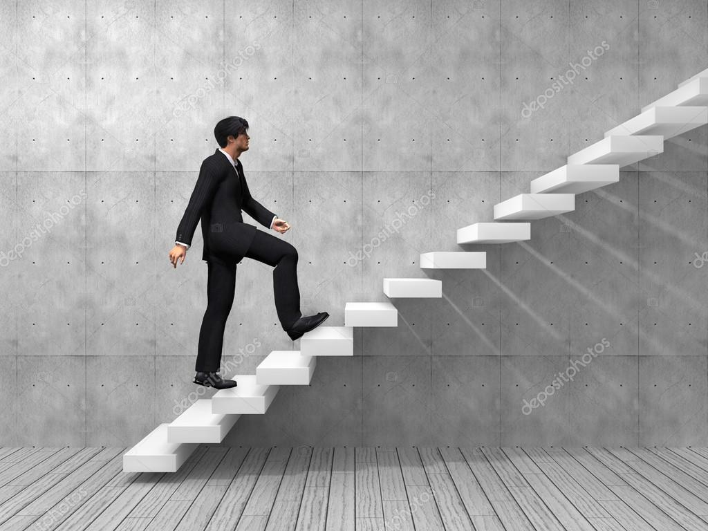 businessman climbing on steps stock photo design36 100540634