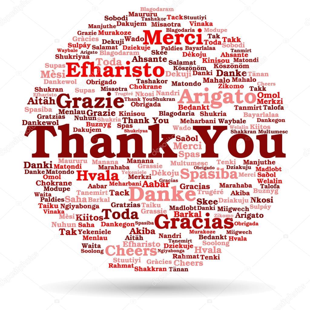 Nube de palabra de Resumen gracias — Foto de stock © design36 #105210180