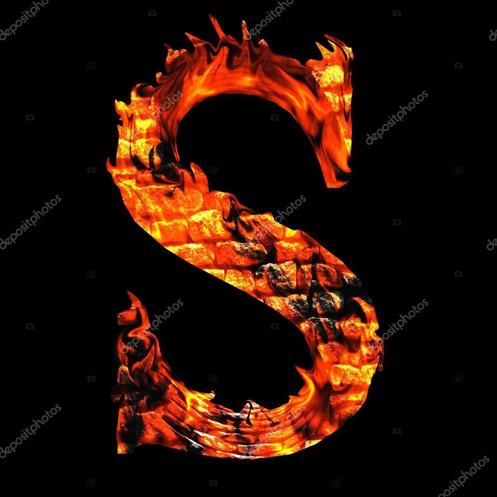 brennende Feuer Schrift — Stockfoto © design36 #105218548