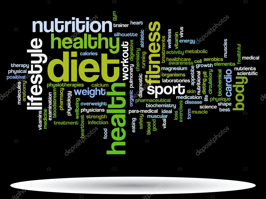 Nube de word de salud Resumen — Fotos de Stock © design36 #108440094