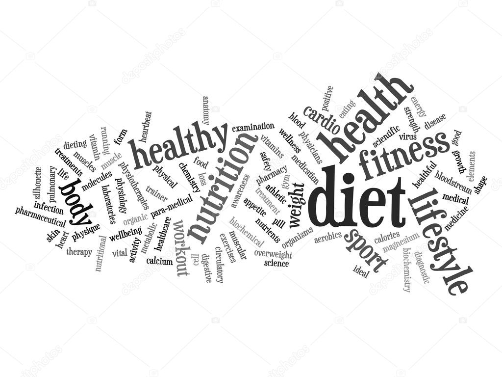 conceptual abstract health word cloud — Stock Photo © design36 ...