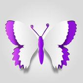 abstraktní koncepční papír butterfly
