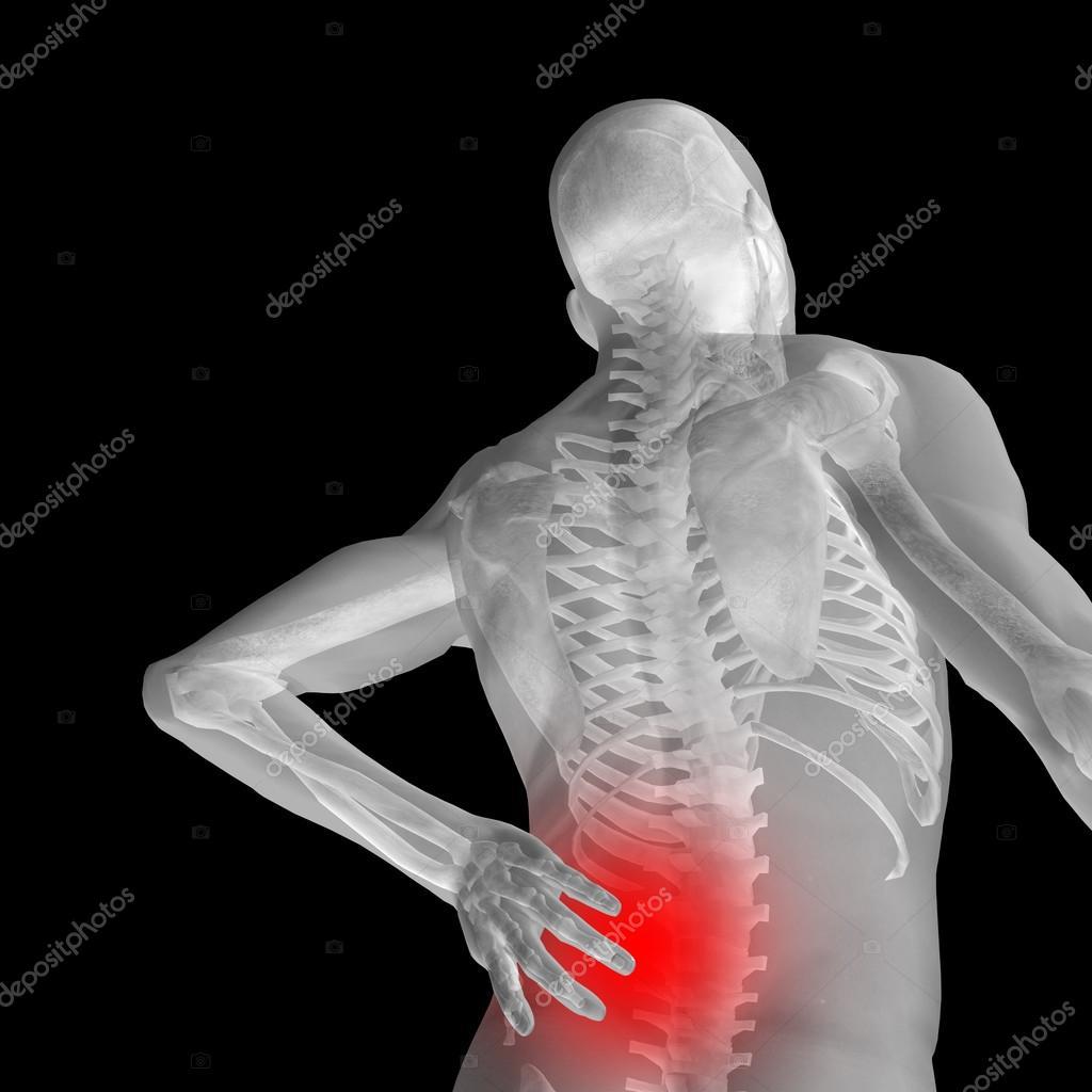 man anatomy with back pain — Stock Photo © design36 #111481354