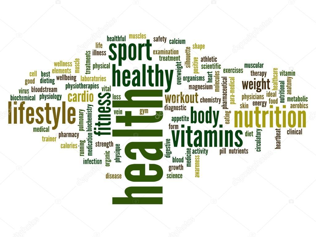 Nube de word de salud Resumen — Foto de stock © design36 #120135694