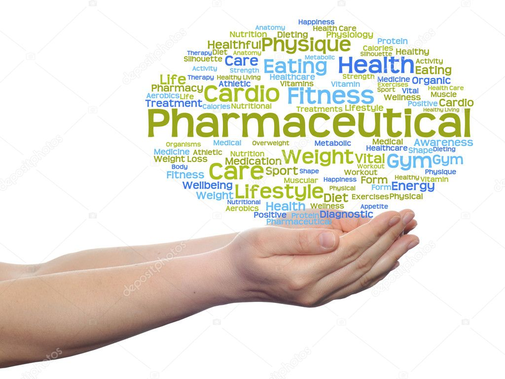 Nube de word de salud Resumen — Fotos de Stock © design36 #120145572