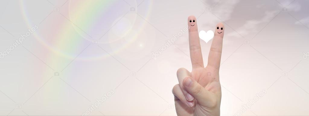 fingers tand smiley faces