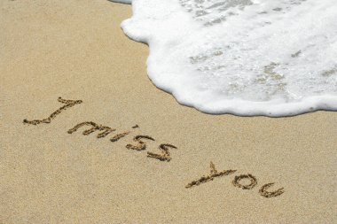 Handwritten I miss you text