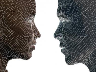 Conceptual wireframe human