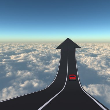 road with a car driving