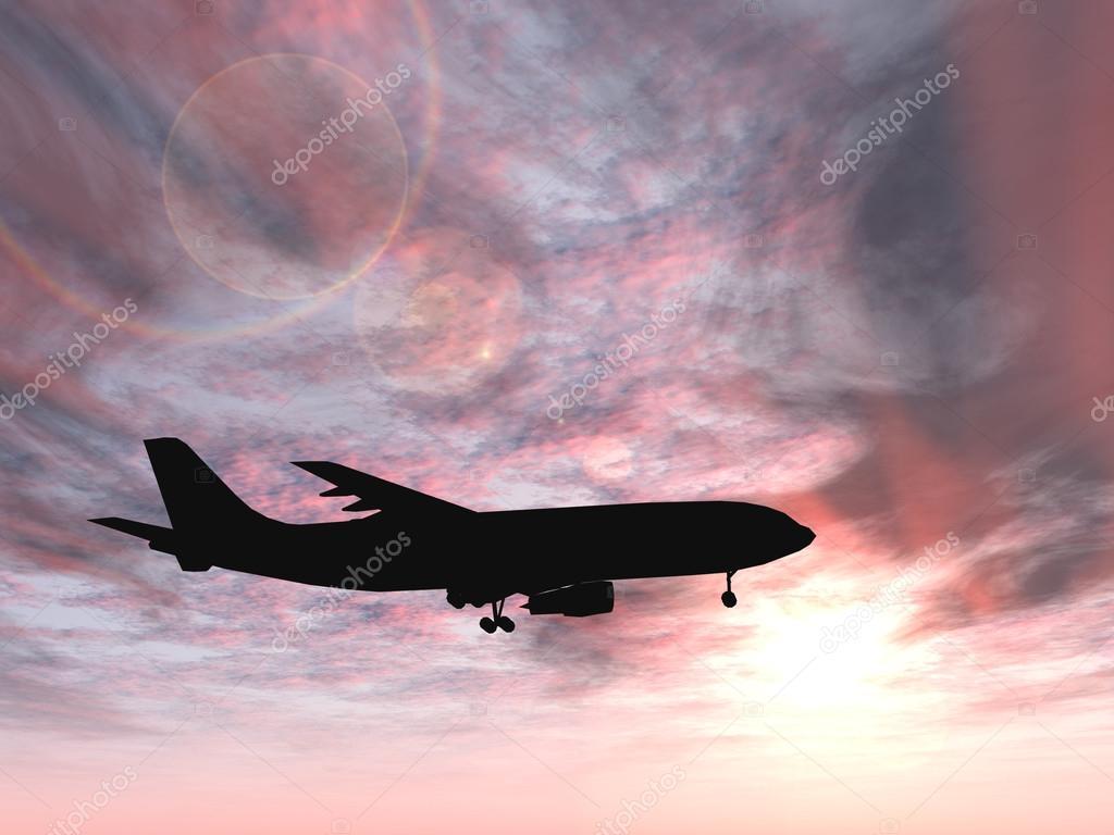 silueta de aviones volando — Foto de stock © design36 #72608583