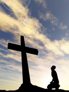 conceptual black cross