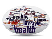 abstract health word cloud