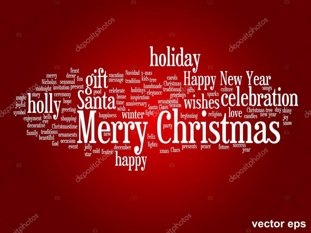 Konzeptionelle Merry Christmas-Wort-Wolke — Stockvektor © design36 ...
