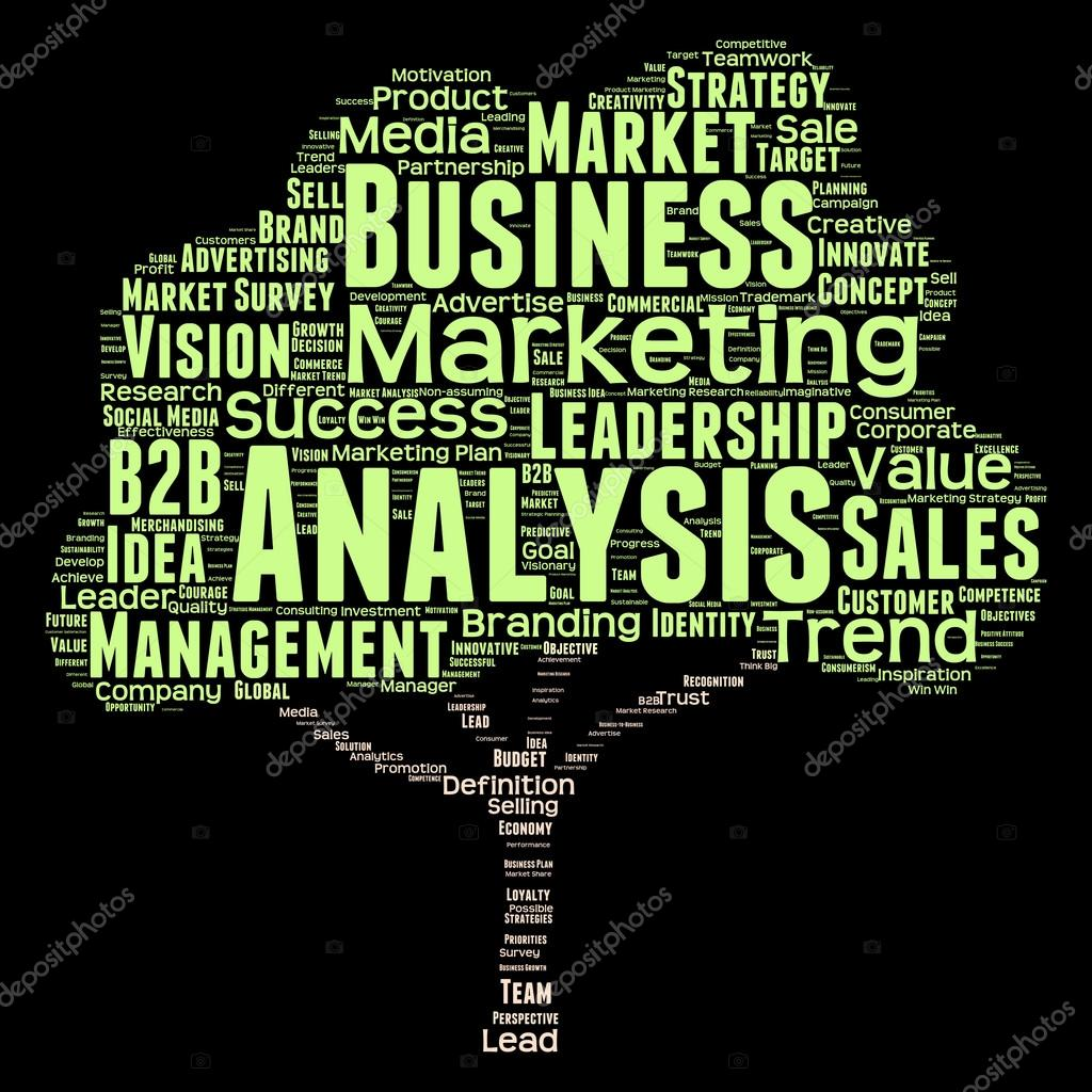 Business Ysis | Liderazgo Marketing O Nube De Palabras De Negocios Foto De Stock