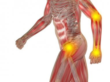 man, joint or articular pain