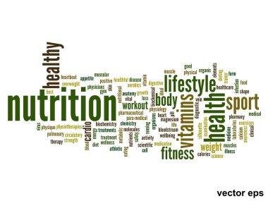 nutrition health words cloud