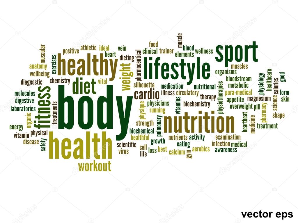 nutrition health words cloud stock vector design36 88926936