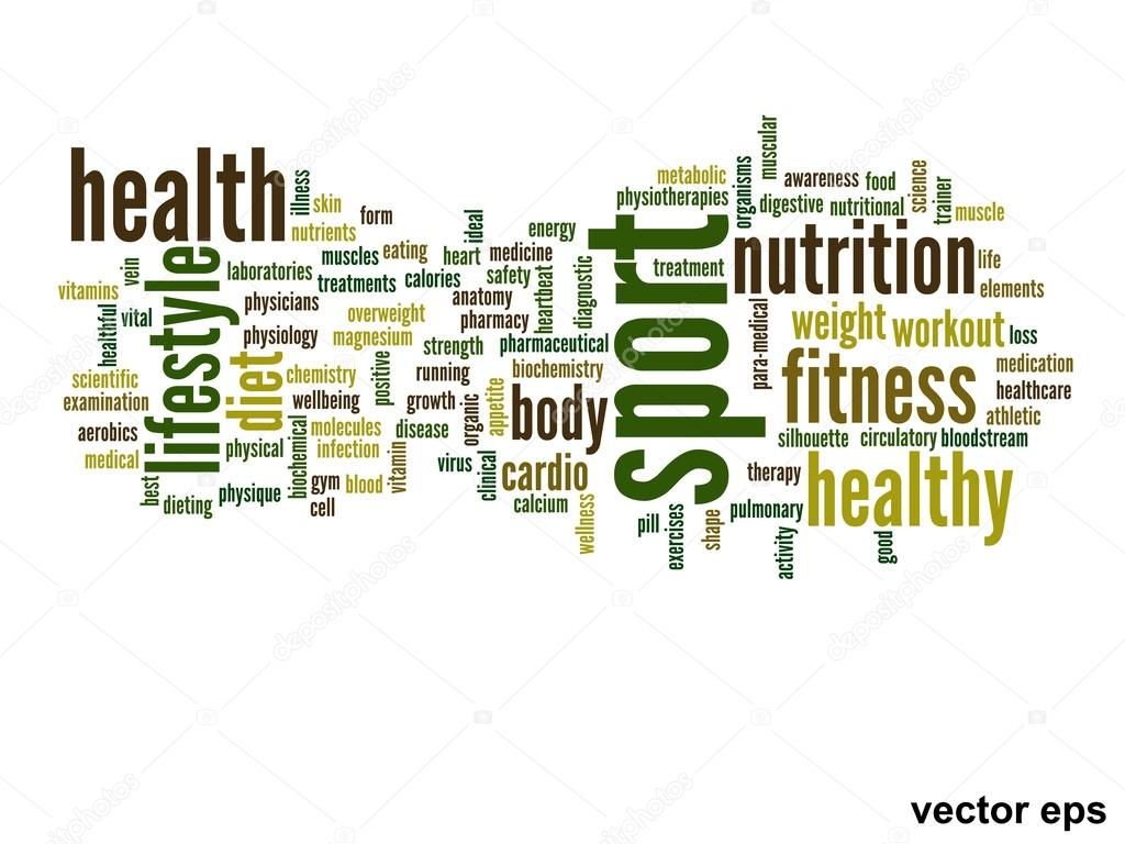 nutrition health words cloud stock vector design36 88928834