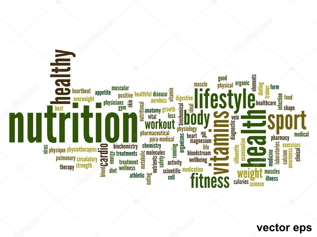 nutrition health words cloud stock vector design36 88929802