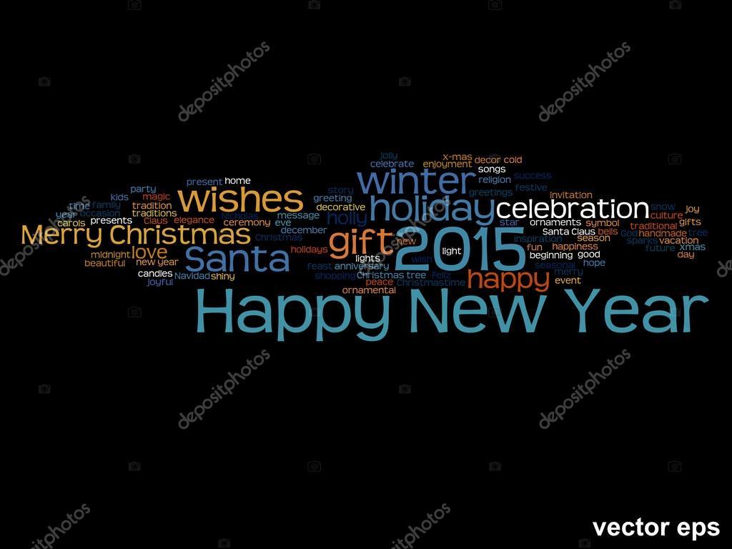 Happy New Year Words Cloud Stock Vector Design36 88931398
