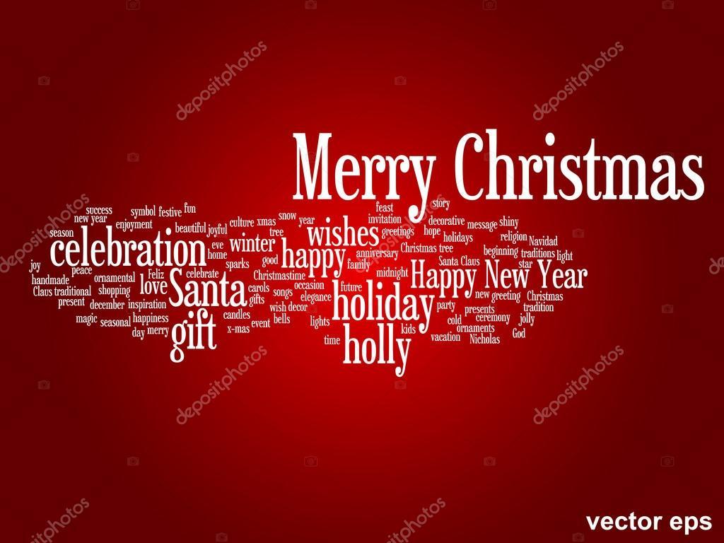 Frohe Weihnachten-Wörter Wolke — Stockvektor © design36 #88932474