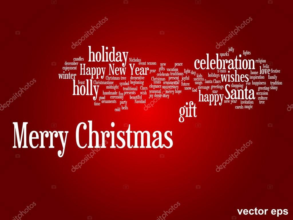 Frohe Weihnachten-Wörter Wolke — Stockvektor © design36 #88933126