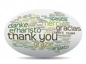 Conceptual abstract thank you word cloud in different languages