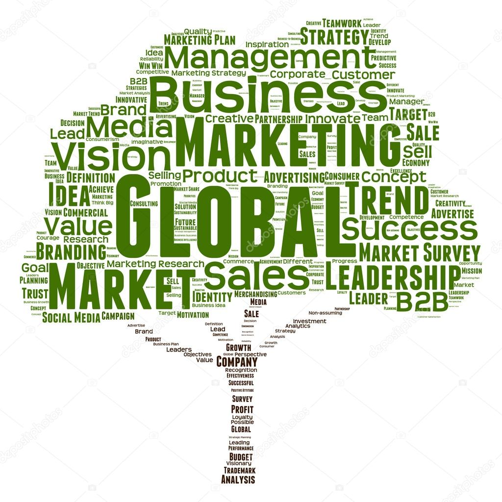 marketing or business word cloud — Stock Photo © design36
