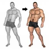 bodybuilder before and after