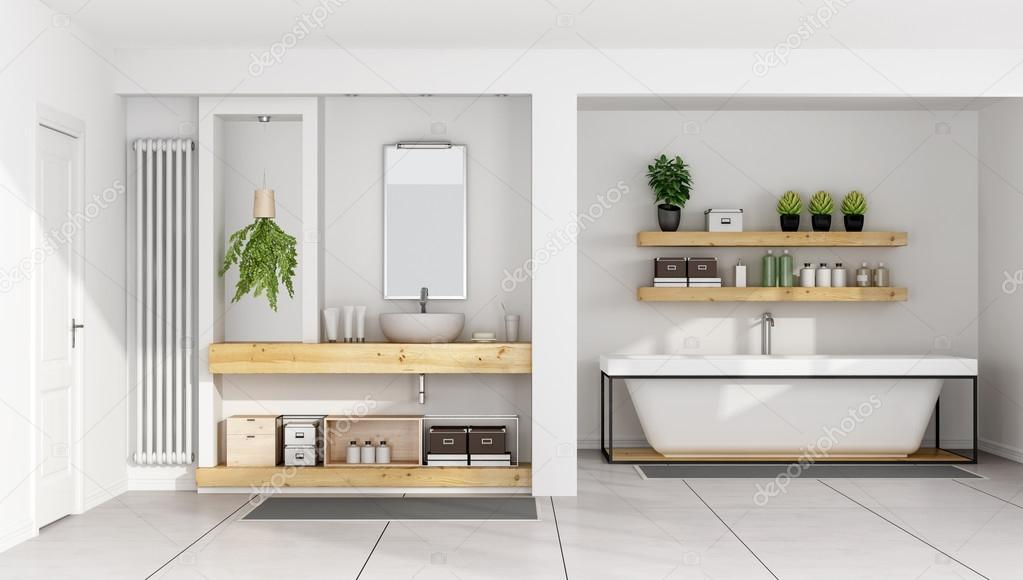 Moderne Witte Badkamer : Moderne witte badkamer u2014 stockfoto © archideaphoto #101538468