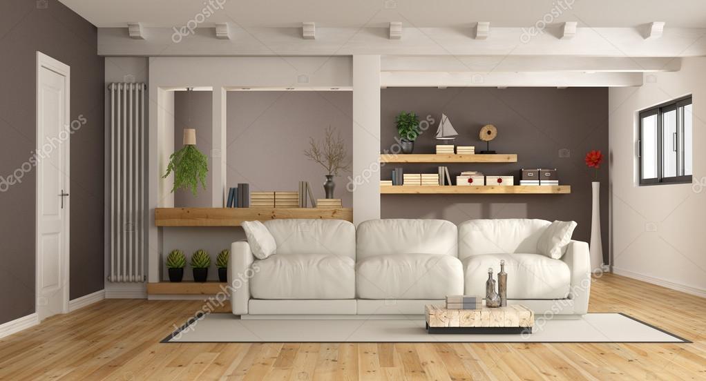 Moderne lounge met witte bank u2014 stockfoto © archideaphoto #102344796