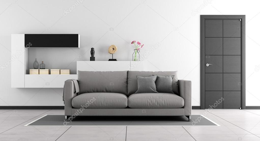 zwart-wit woonkamer — Stockfoto © archideaphoto #105528752