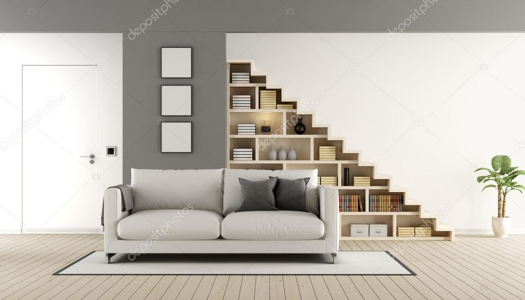 Modernes Wohn /Esszimmer Mit Treppe U2014 Stockfoto