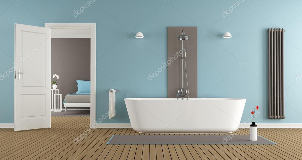 Nowoczesna łazienka Z Wanną I Prysznicem Zdjęcie Stockowe
