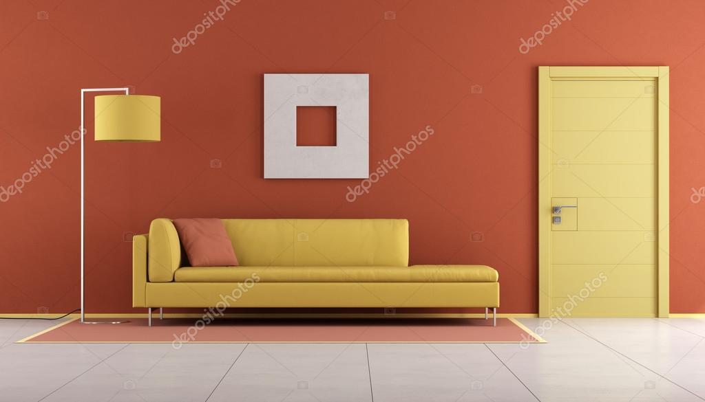 Gelb und orange lounge — Stockfoto © archideaphoto #115965310