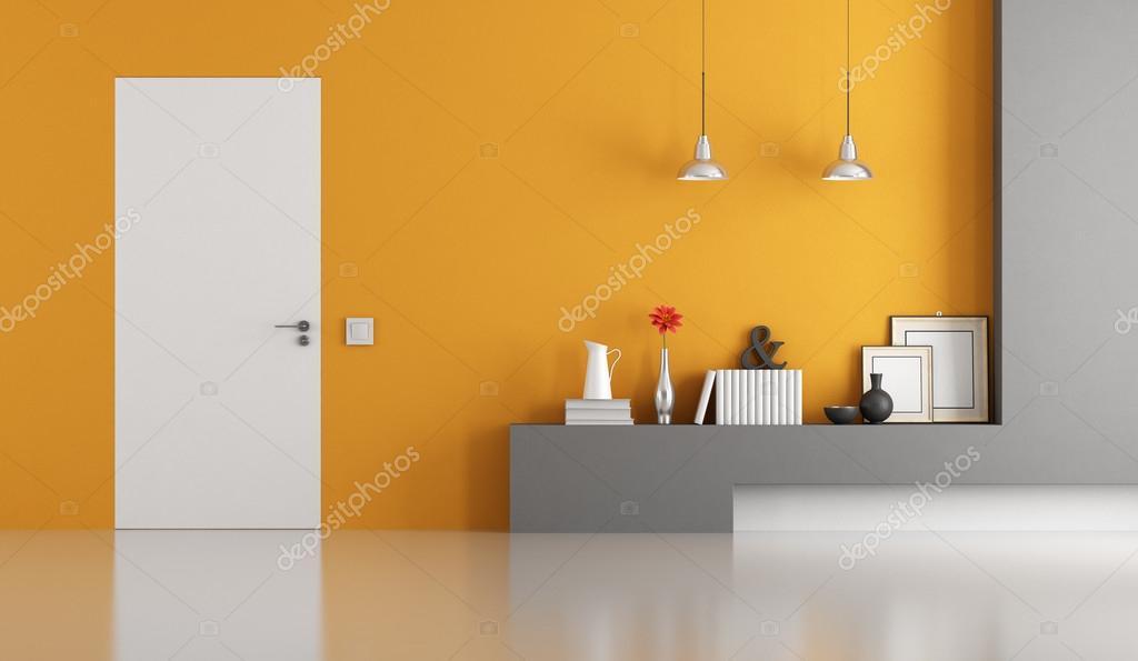 Soggiorno Moderno Grigio E Bianco : Soggiorno moderno grigio e arancia u foto stock archideaphoto