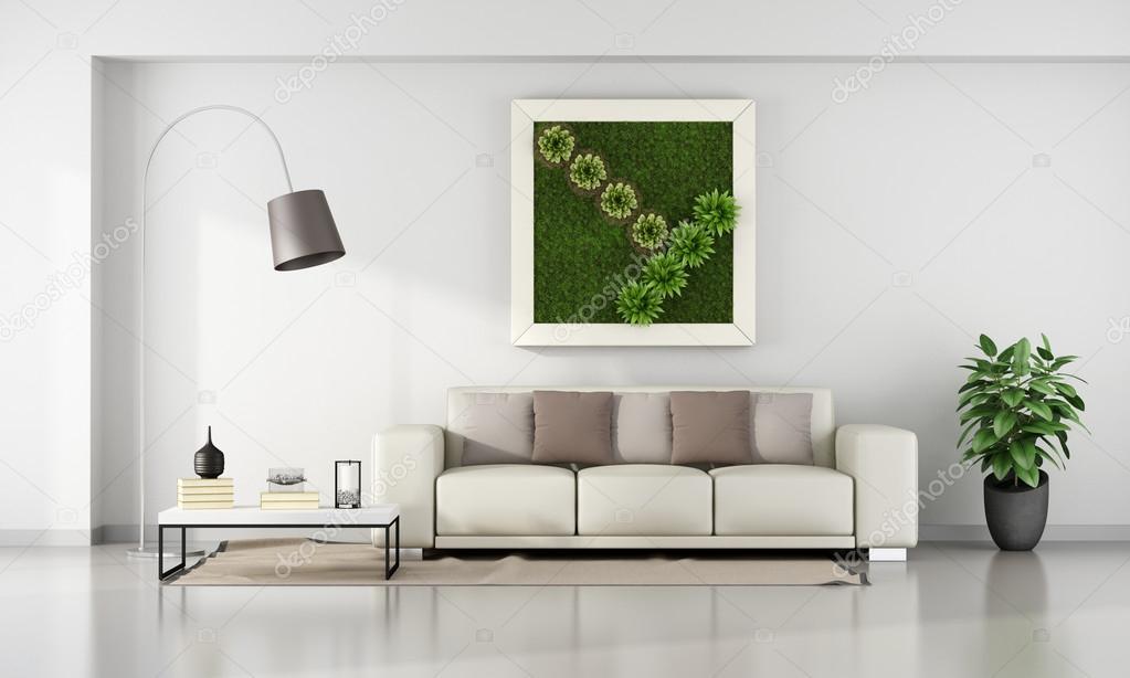 Verticale Tuin Woonkamer : Woonkamer met verticale tuin in frame u2014 stockfoto © archideaphoto