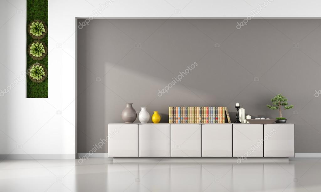 Verticale Tuin Woonkamer : Woonkamer met kabinet u2014 stockfoto © archideaphoto #66070529
