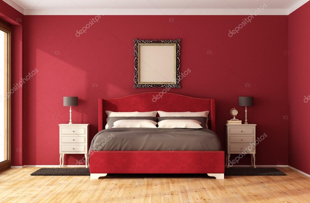Camera da letto classica rosso — Foto Stock © archideaphoto #86618724