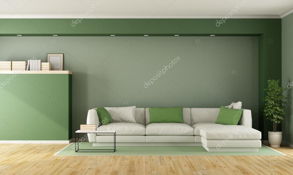 Salotto Moderno Verde : Verde soggiorno moderno u foto stock archideaphoto