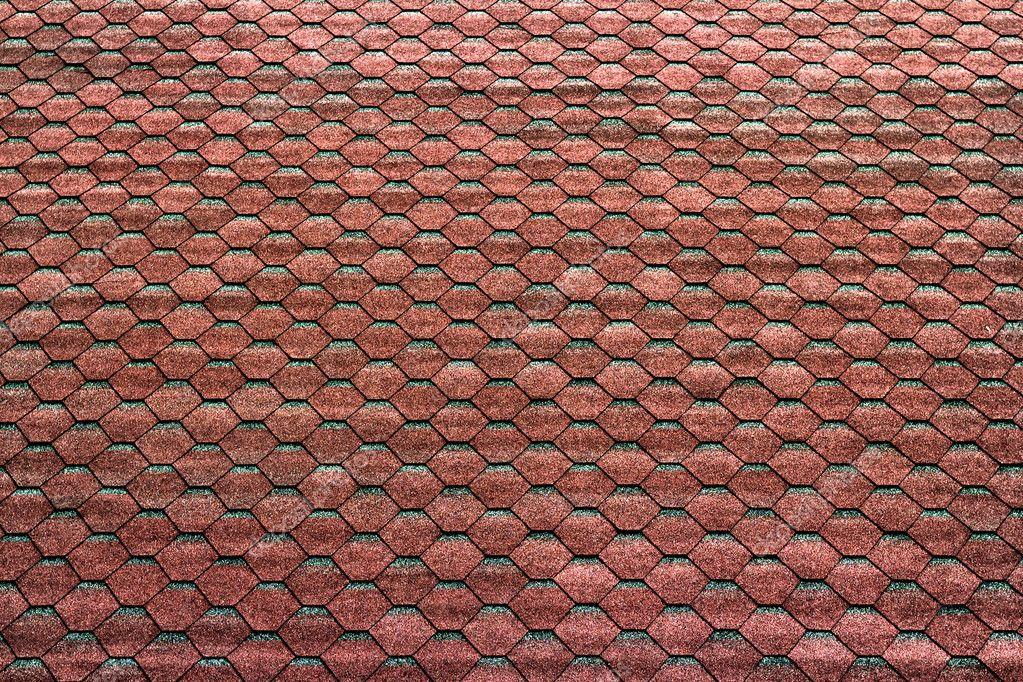 Mattonelle esagonali rossi sul tetto come sfondo u foto stock