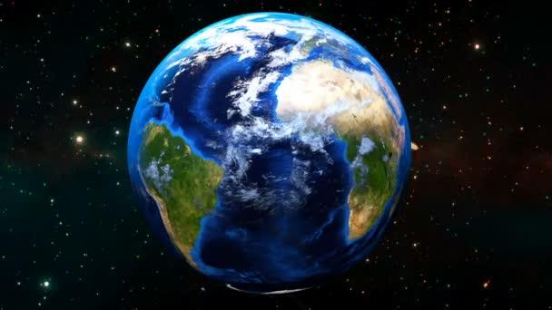 Krásné rotace země. HD 1080. 3D vykreslování