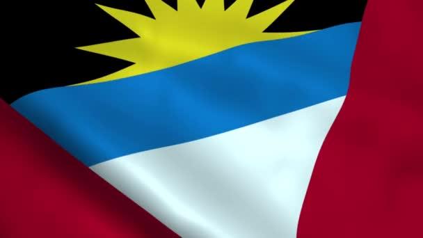 Realistic Antigua and Barbuda flag