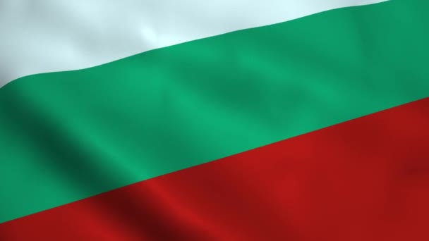 Realistic Bulgaria flag