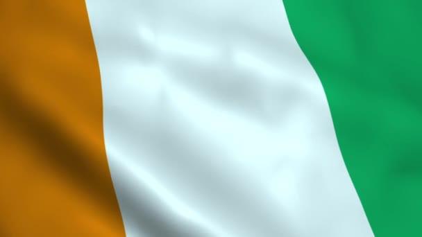 Realistic Ivory Coast flag
