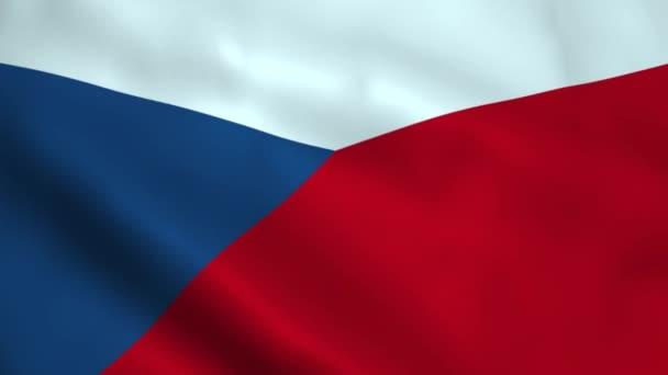 Realistické Česká republika vlajka