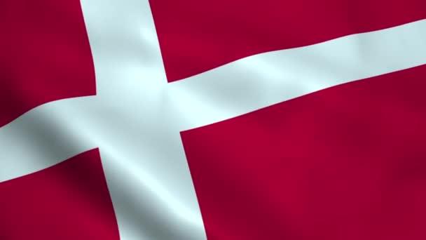 Realistic Denmark flag