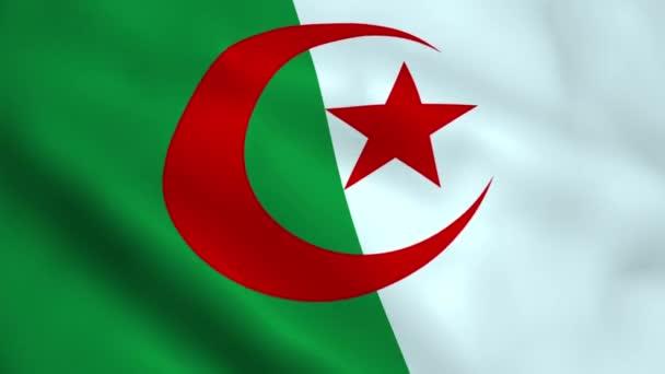 Realistic Algeria flag