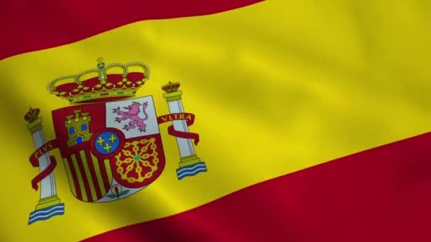 Realistic Spain flag