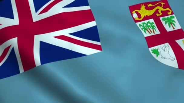 Realistic Fiji flag